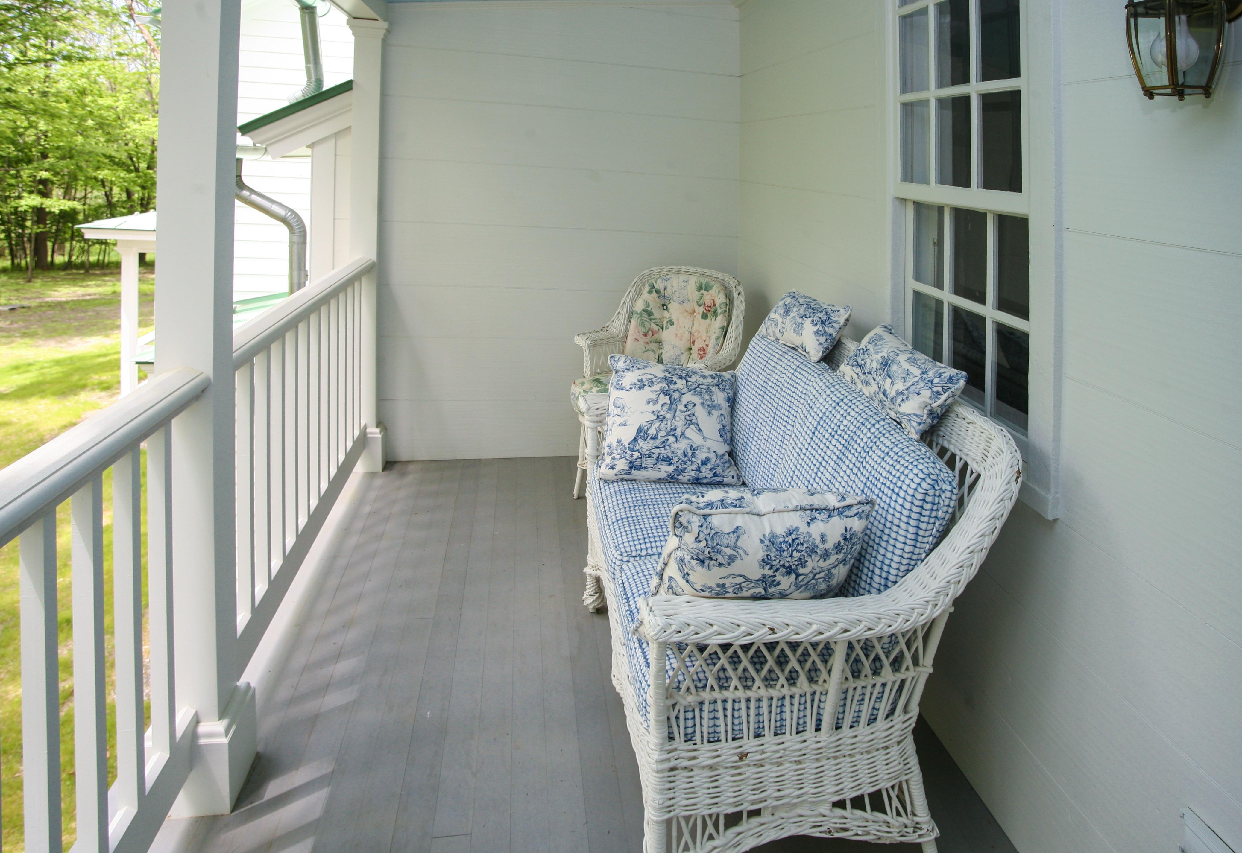 Second Floor Porch, New Concord B&B