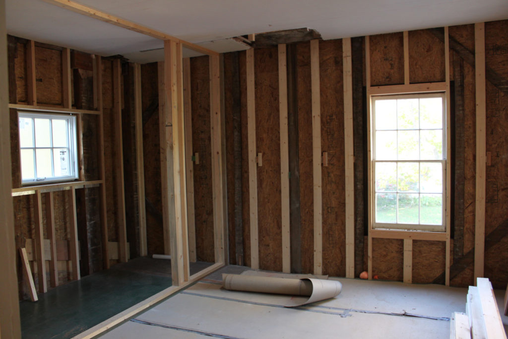 Preparing walls for insulation