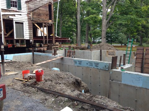 Foundation walls go up, August 2014
