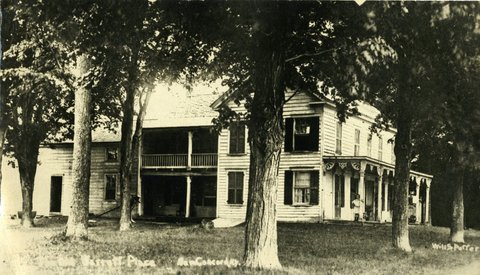 An old postcard features a photo of the New concord B &B