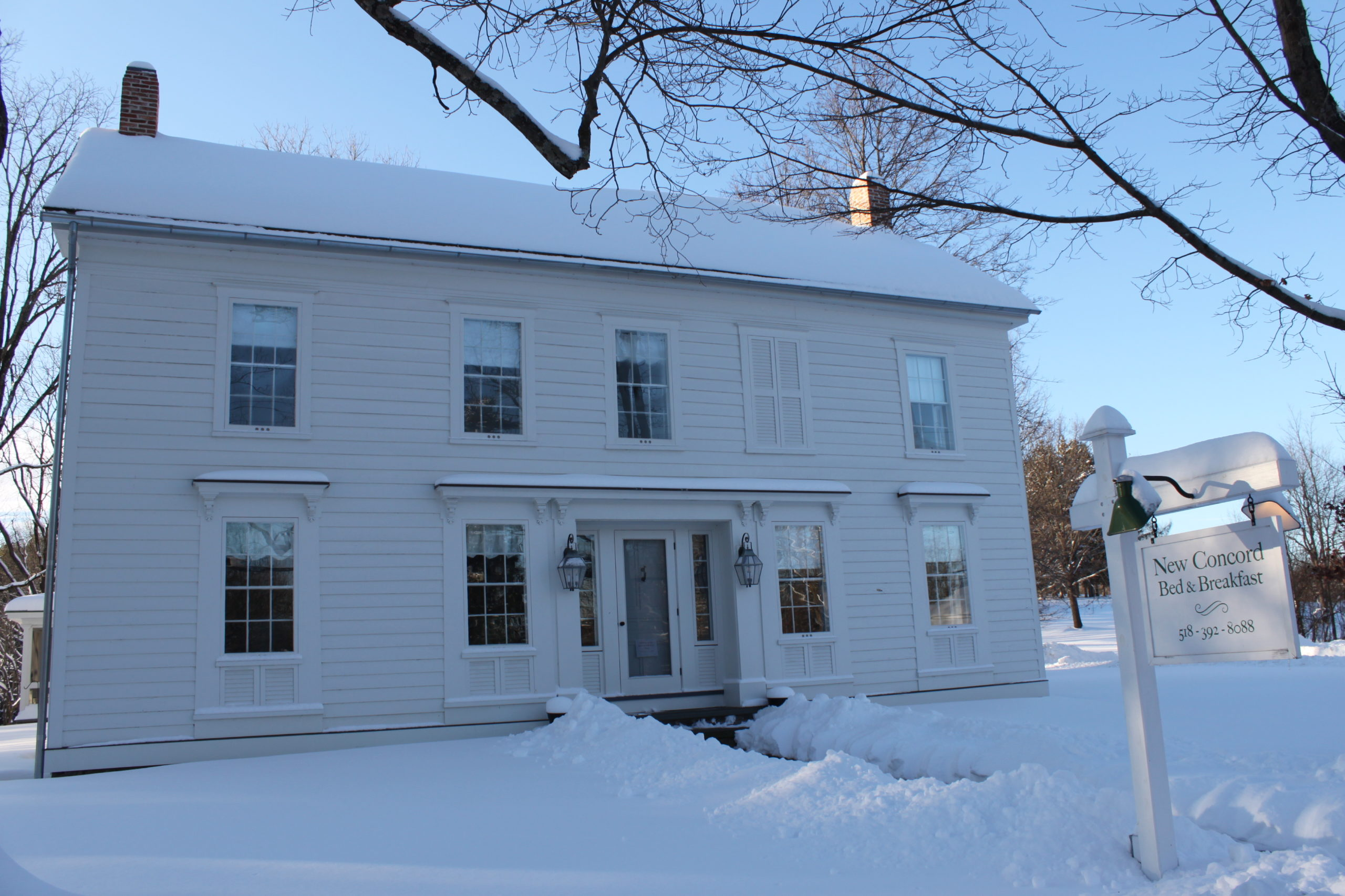 Snow at New Concord Bed & Breakfast